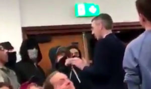 students scream 'Nazi' and 'racist' during Jacob Rees-Mogg speech