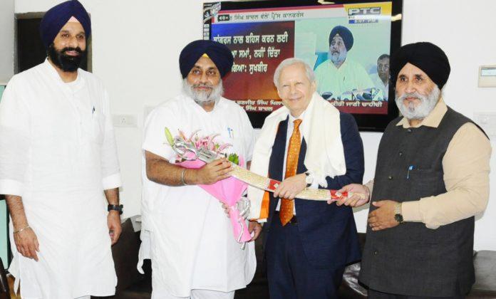 US Ambassador Chandigarh In Sukhbir Badal With Visit