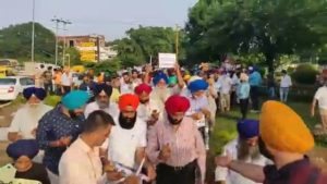 Candle March Taken Out At Chandigarh Piccadilly Chowk To SAVE Punjabi Language