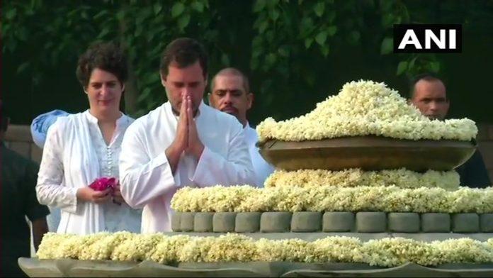 Sonia Gandhi, Rahul Gandhi pay tribute to Rajiv Gandhi on his birth anniversary