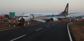 Jet Airways' Mumbai-bound flight goes off runway, passengersevacuated safely