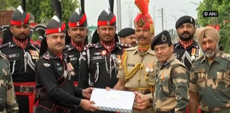Sweet exchange at Attari-Wagah border on Pak Independence Day