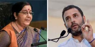 Swaraj is jobless, except for spending time working on people`s visas: Gandhi