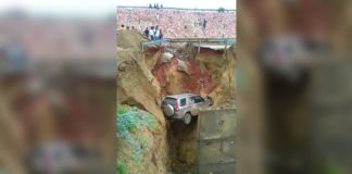 Agra-Lucknow expressway: SUV plunges over 15 feet after road along caves in