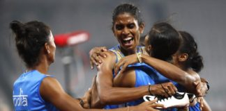 18th Asian Games: Women's 4x400m relay team wins gold