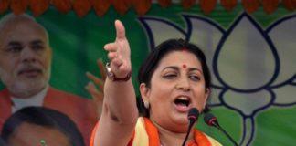 Disrespecting women associated with BJP, RSS shows how low Rahul Gandhi will fall: Smriti Irani