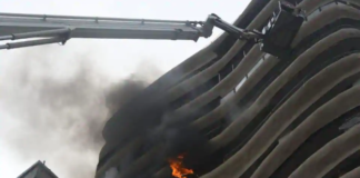 Fire breaks out at Crystal Tower building in Mumbai's Parel