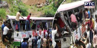 10 pilgrims killed, 20 injured as bus falls into gorge in Telangana