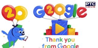 Google Celebrates its 20th Birthday with a Video Doodle