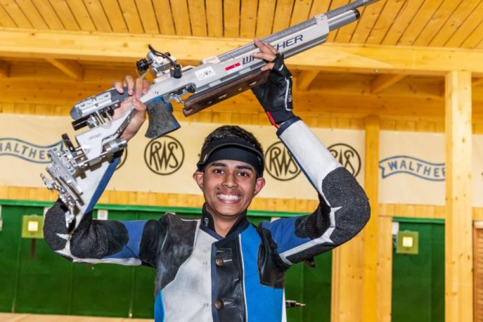 16 year old Hriday Hazarika wins gold medal in 10m Air rifle