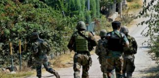 Jammu and Kashmir Terrorists security forces On Throwed grenades