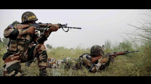 Jammu Kashmir In security forces and terrorists Between Clash