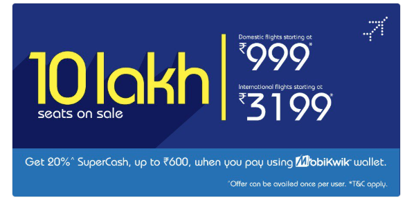 IndiGo puts 10 lakh seats on sale! Fare begins from Rs 999