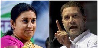Rahul Gandhi Hugs PM Modi but runs away from IT officer: Smriti Irani