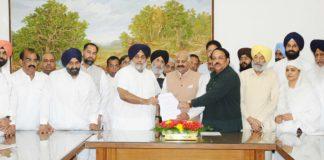 SAD-BJP delegation Punjab future issues Regarding Governor requested memorandum