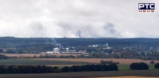 12,000 people evacuated after explosions at Ukrainian ammunition depot