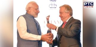 PM Narendra Modi receives UN's Champions of the Earth Award