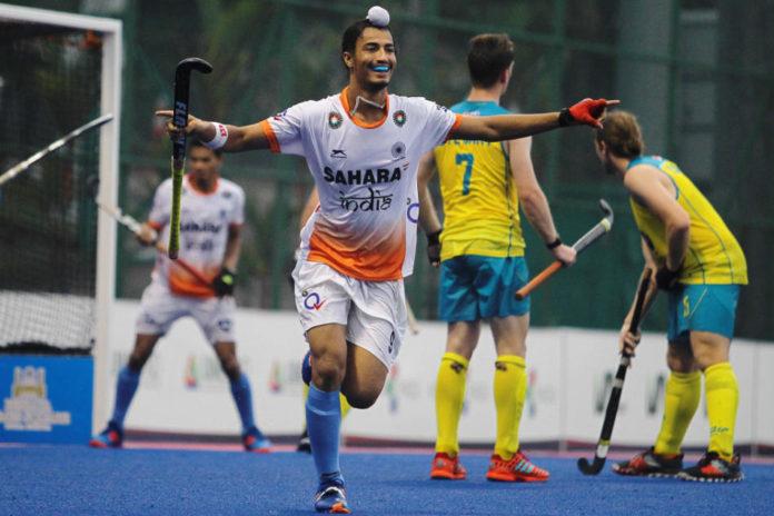 Indian men go down fighting to Australia 3-4 in Hockey 5s