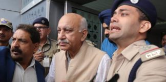M J Akbar returns home, says there will be statement later