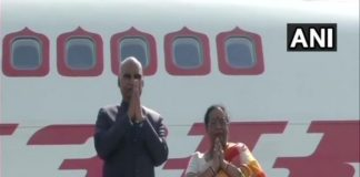 President Kovind and First lady Savita Kovind leaves for Tajikistan