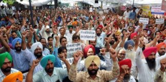 Teachers Protest at Patiala ( FILE PHOTO )