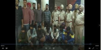 Sirhind petrol pump Robbery gang 8 member Weapons and cash with Arrested