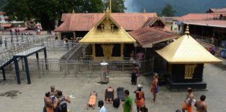 Sabarimala temple opens Monday, pilgrims protest at Erumeli