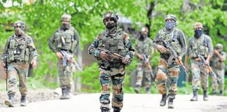 Jammu and Kashmir Badgam security forces 2 terrorist piles