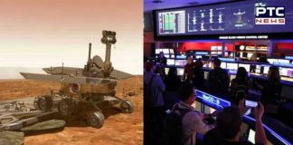 US space agency Nasa new robot on Mars lands