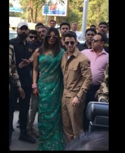 Priyanka Chopra And Nick Jonas After marriage Arrived Delhi