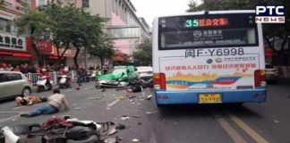 Hijacked Bus Crashes