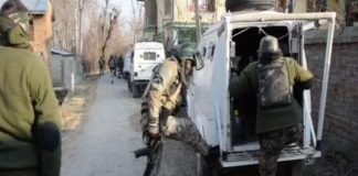 an encounter in south Kashmir's Pulwama district