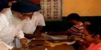 Parkash Singh Badal Casts Vote