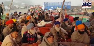 Phagwara-Jalandhar National Highway Farmers Second day Dharna continued