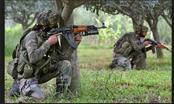Jammu and Kashmir's Badgam Security forces and terrorists