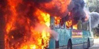 oil tanker-bus collision