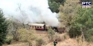 Himalayan Queen Toy train catches fire
