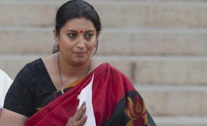 BJP leader and Union minister Smriti Irani