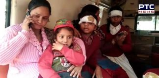 Amritsar Mannawala School Auto Rickshaw Truck Collision 9 school children injured