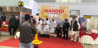 SGPC members flag off Air India's inaugural Chandigarh- Nanded flight