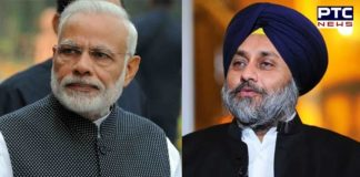 Sukhbir Badal Under SAD delegation Narendra Modi MEET