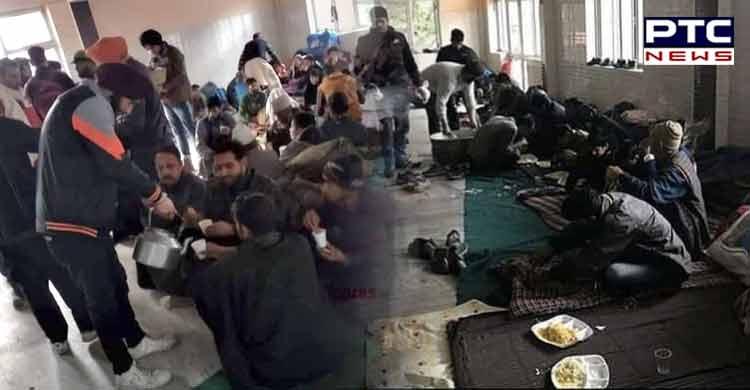 stranded Kashmiri people