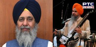 Dr. Gurnam Singh Sangeet Natak Akademi Award arrival Bhai Gobind Singh Longowal congratulated
