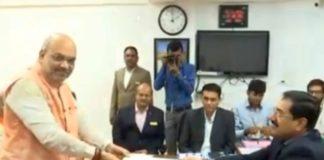 BJP national president Amit Shah Gandhinagar filing nomination papers