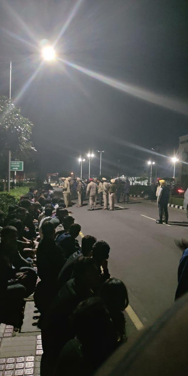Patiala Rajiv Gandhi National University Students fourth day Protest