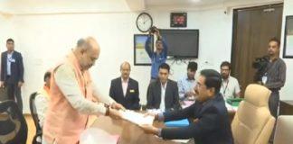Amit Shah files Nomination