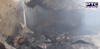 200 huts gutted