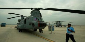 IAF inducts four Chinook heavy-lift helicopters