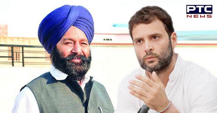 Sher Singh Ghubaya meets Rahul Gandhi