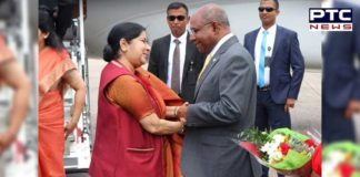 Sushma Swaraj Meets Maldivian President Ibrahim Mohamed Solih